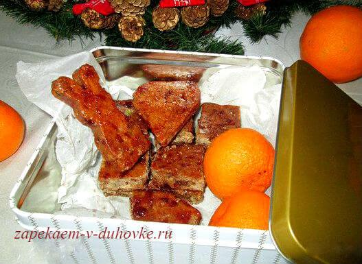 пряничное рождественское  тесто