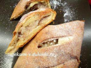Рецепт классический венский яблочный штрудель фото