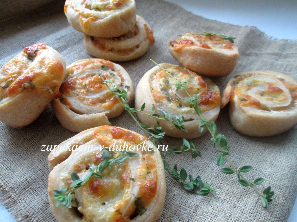 Булочки сыром и чесноком