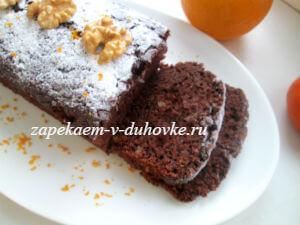 постный шоколадный кекс с кабачком