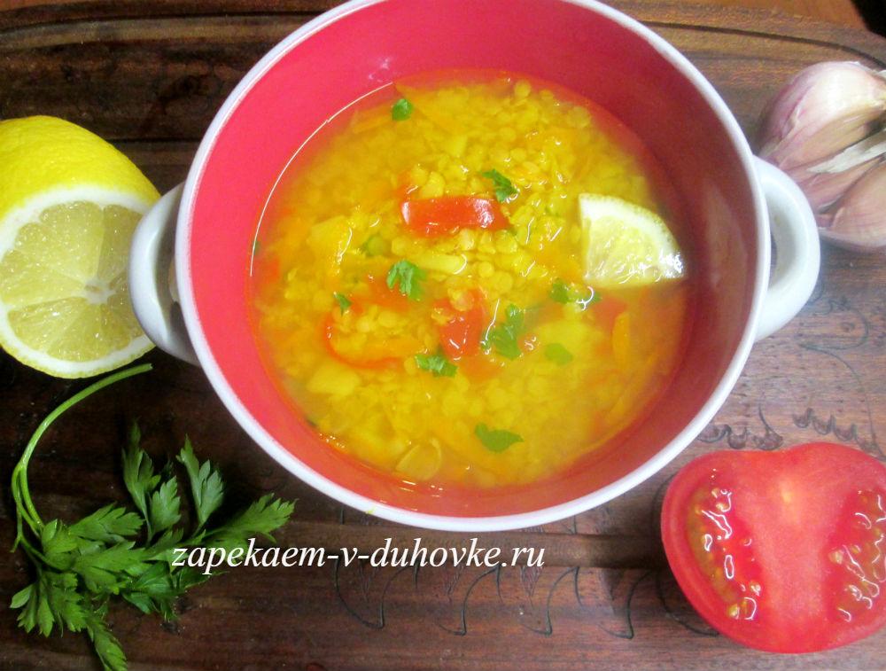 Постный чечевичный суп по-восточному