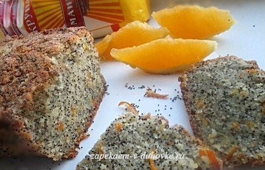 постный маково-апельсиновый манник