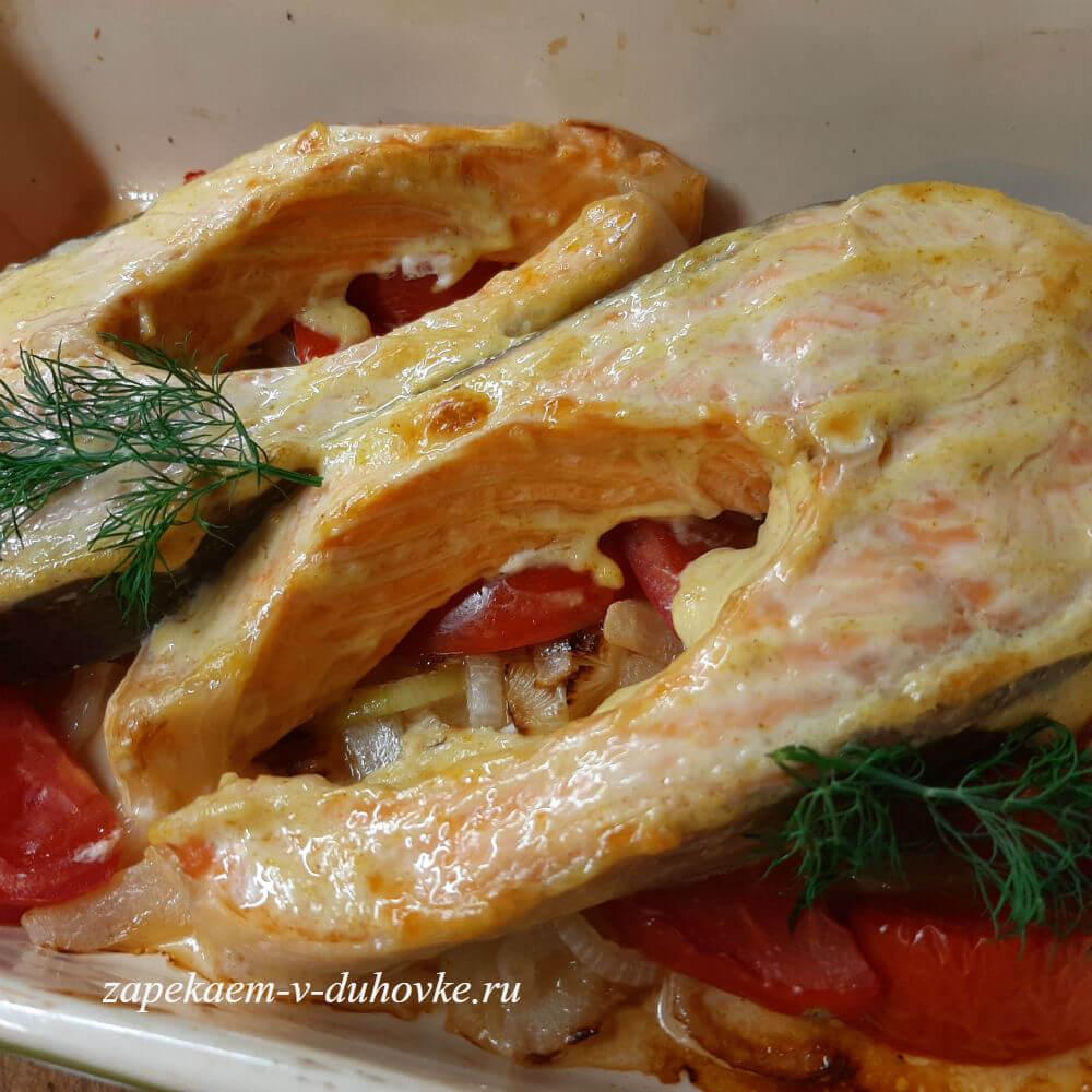 стейки семги запеченные в горчичном маринаде