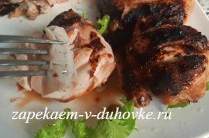 Цыпленок гриль в пикантном маринаде на  мангале