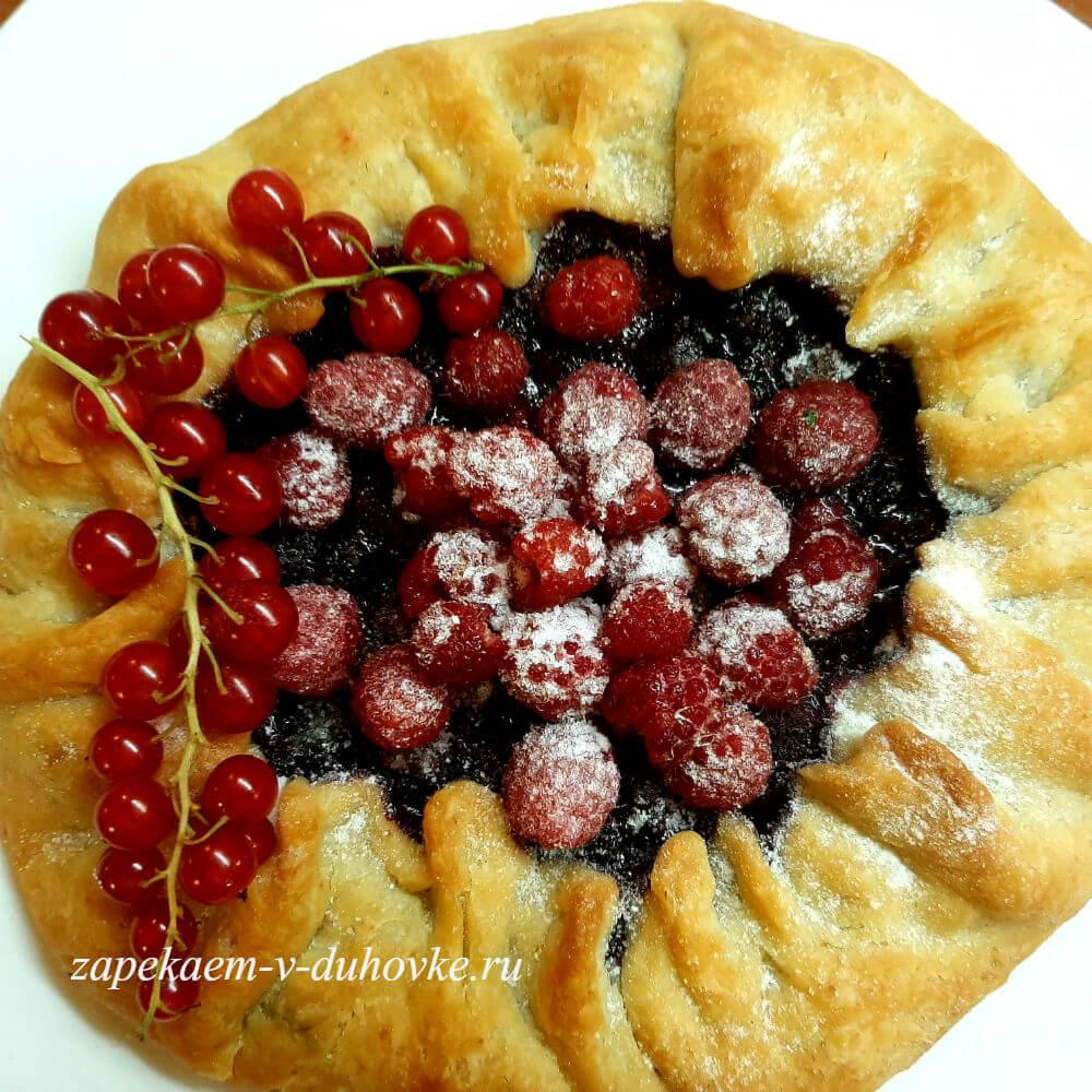 ягодный пирог - галета на заварном тесте