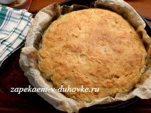 капустный пирог на заливном тесте
