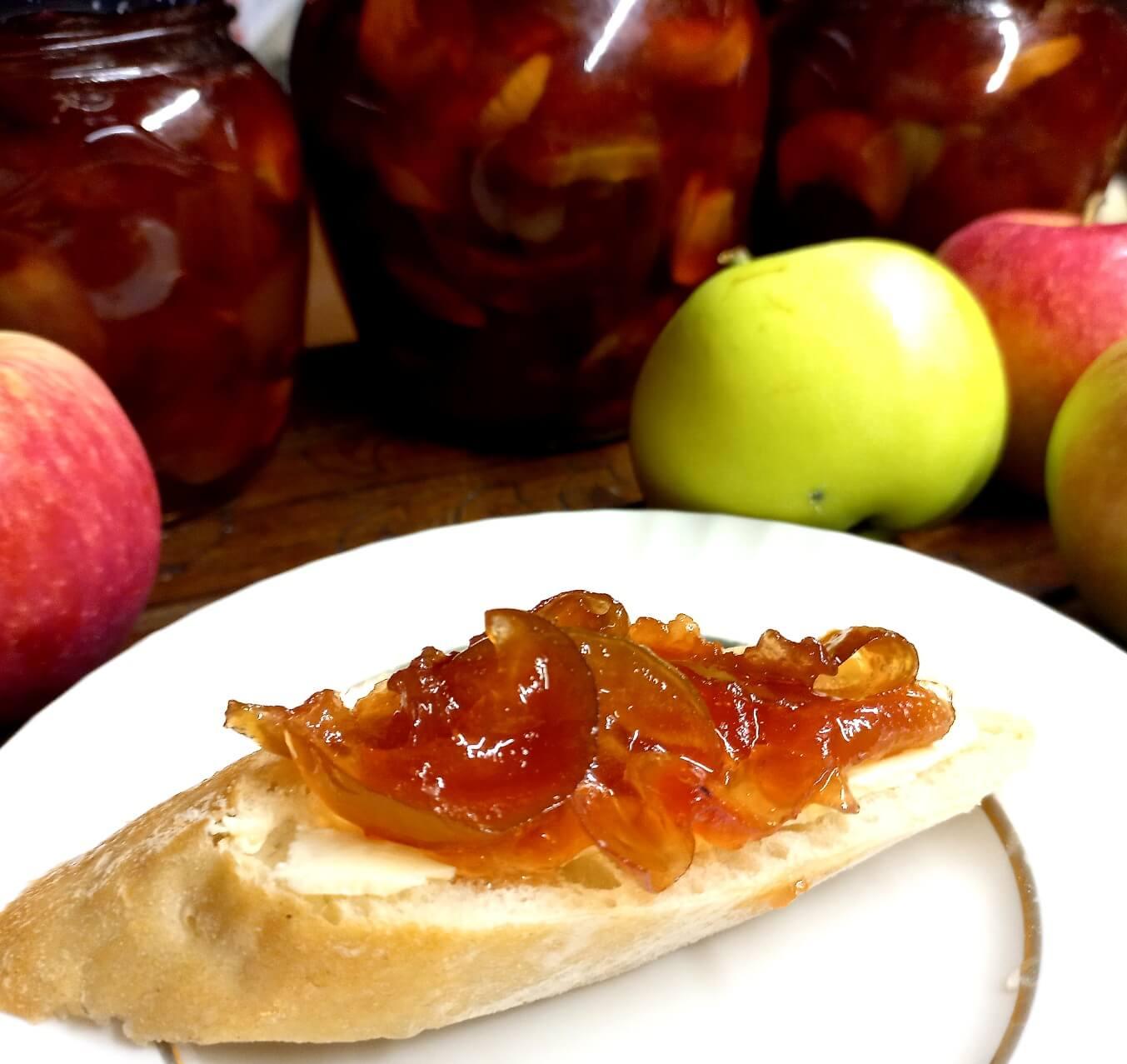 Яблочное варенье янтарное
