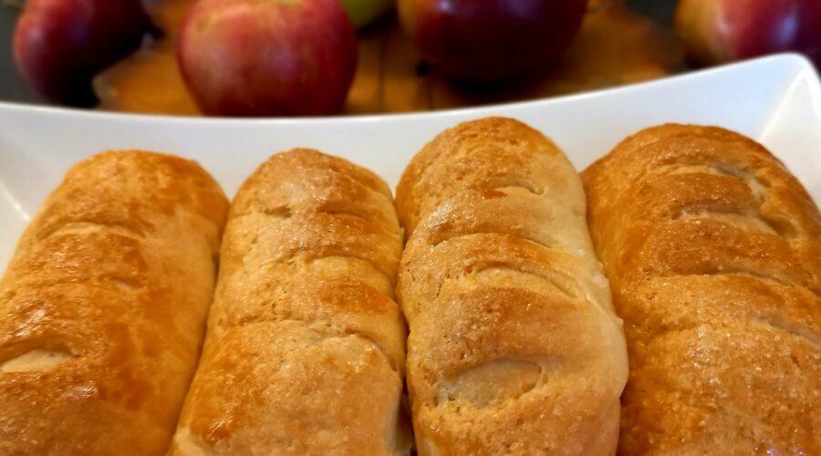 булочки с яблочной начинкой на творожном тесте